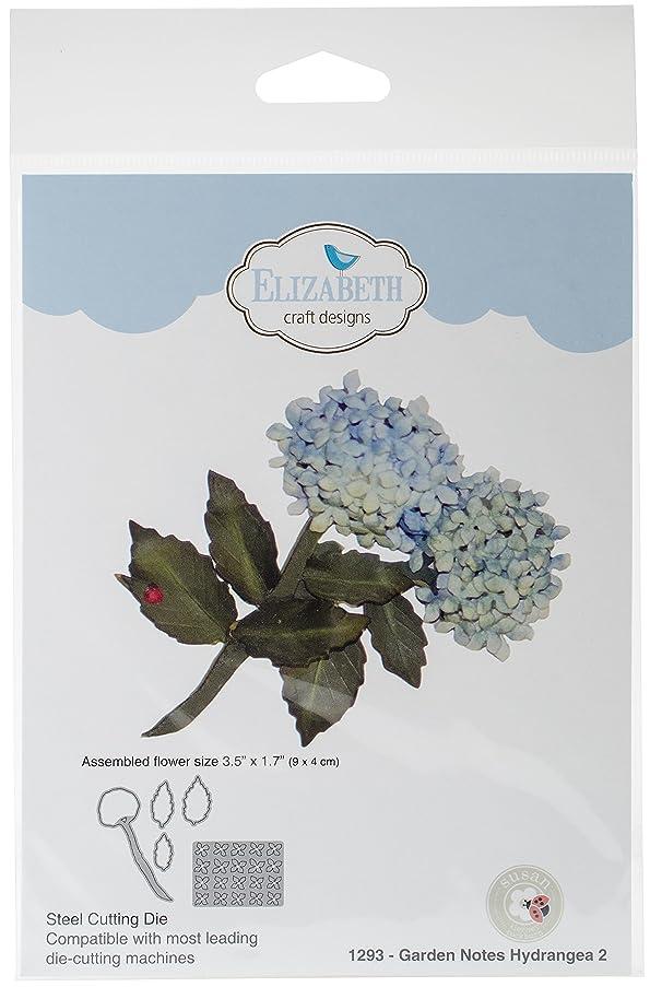 Elizabeth Craft Designs 1293 Metal Die Garden Notes Hydrangea 2 3.5