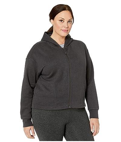 Prana Plus Size Cozy Up Zip-Up Jacket (Charcoal Heather) Women