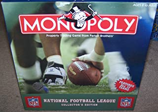 Hasbro Monopoly NFL National Football League Collector's Edition