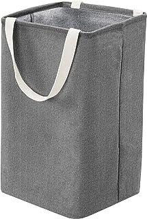 comprar comparacion AmazonBasics – Canasto de tela, alto, cúbico, gris oscuro