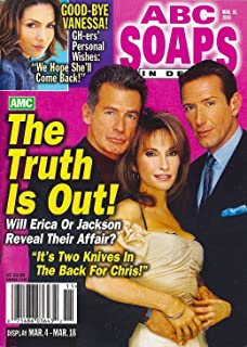 Susan Lucci, Jack Scalia, Walt Willey, All My Children Shirtless Soap Opera Hunks, Kelly Ripa - March 18, 2003 ABC Soaps in Depth Magazine