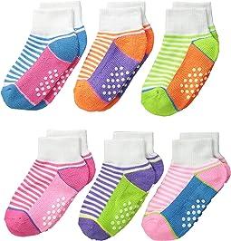 Sporty Half Cushion Quarter Socks 6-Pair Pack (Toddler/Little Kid/Big Kid/Adult)