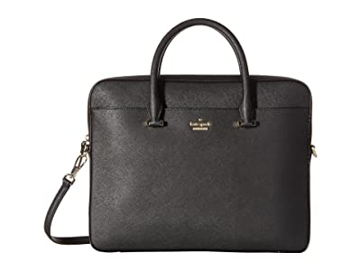 Kate Spade New York 13 Saffiano Laptop Bag (Black) Computer Bags