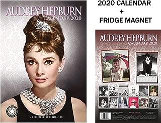 AUDREY HEPBURN CALENDARIO 2020 + AUDREY HEPBURN IMÁN DEL REFRIGERADOR