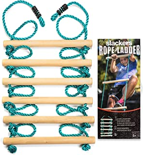 Slackers Ninja Rope Ladder 8' Climbing Ladder for Obstacle Sports and Outdoors