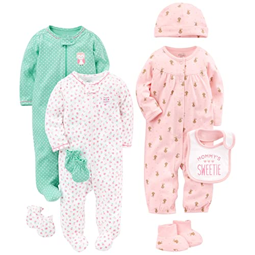 2d0ac04cb Simple Joys by Carter's Baby Girls' 8-Piece Footed Take Me Home Set