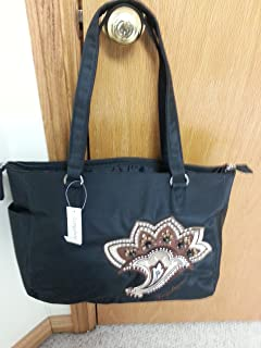 Longaberger Sisters Timeless Large Black Brown Tote Bag Purse New Genuine Sturdy