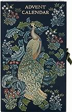 Morris & Co. 2019 Advent Calendar Blue Forest Peacock Print With 24 x Bath & Body Items Assorted Beauty Christmas Presents