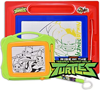 Teenage Mutant Ninja Turtles Magnetic Drawing Board, Large Erasable Doodle Sketching Pad with Travel Size Sketcher to Color, Draw and Erase for Kids, Toddlers, Boys & Girls