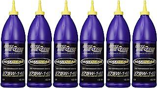 Óleo lubrificante sintético Royal Purple 01301 Max-Gear 75W140 Pacote de 6 litros