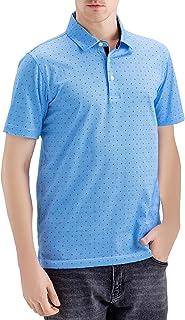 Mens Classic Fit Digital Print Mercerized Cotton Short Sleeve Polo Shirt