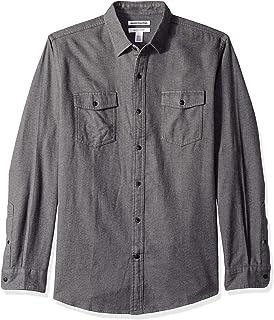 Men's Regular-Fit Long-Sleeve Two-Pocket Flannel Shirt