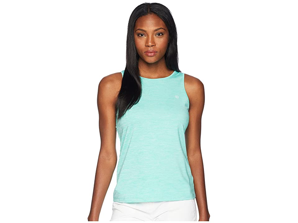 Vineyard Vines Golf Heather Sport Peekaboo Tank Top (Capri Blue) Women