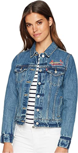 Levi's® Womens St. Louis Cardinals Denim Trucker Jacket