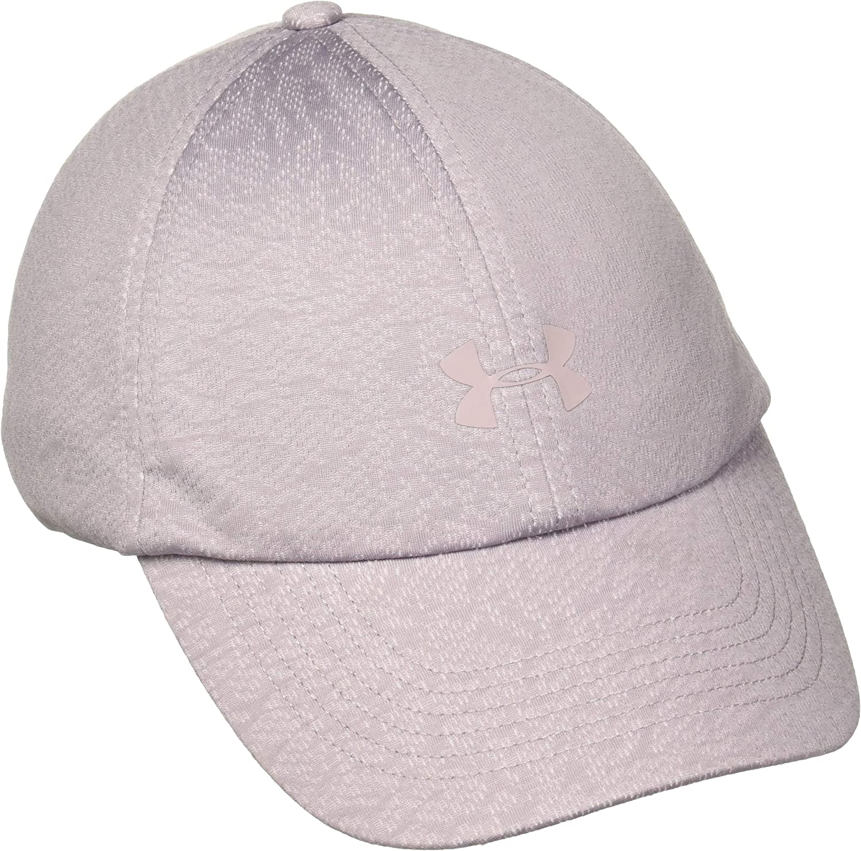 Under Armour Womens Jacquard PU Cap Baseball Curved Peak Purple One Size