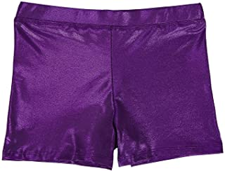 HDE Gymnastics Shorts for Girls - Glitter Dance Shorts Kids Athletic Bottoms