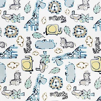 "High Quality Premium Reversible Baby Safari Cuddle Fleece Fabric 60/""  Wide"
