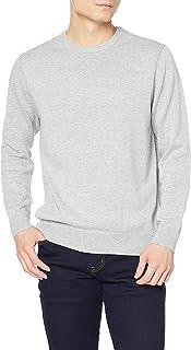 [Amazon Essentials] クルーネック ストライプセーター メンズ