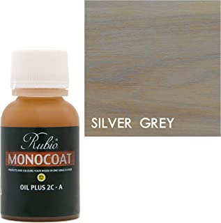 Rubio Monocoat Oil Plus 2C-A Sample Wood Stain Silver Grey 20ml