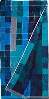 AmazonBasics Premium Beach Towels - Blue Pixels
