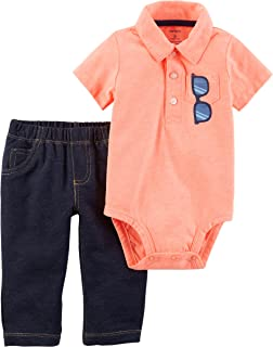Carter's Baby Boys' 2 Piece Neon Sunglass Bodysuit and Pants Set 12 Months