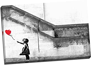 Best banksy girl with balloon canvas Reviews