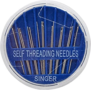 SINGER 00290 Self-Threading Hand Sewing Needles, Assorted, 15-Count