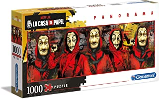 Clementoni- Puzzle 1000 Piezas Panorama La Casa de Papel (39