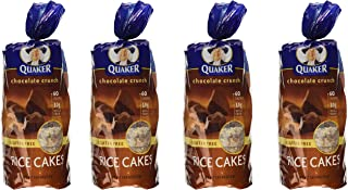 Quaker, Rice Cakes, Chocolate Crunch, 6.56oz Bag (Pack of 4)
