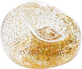 BloChair Inflatable Gold Glitter Chair - Kids Size - Beanless Beanbag Chair for Dorms, Kids Room, Indoor and Outdoor Use.
