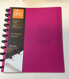 Staples Arc Customizable Notebook System 60 sheets 8.5 x 11 in PINK