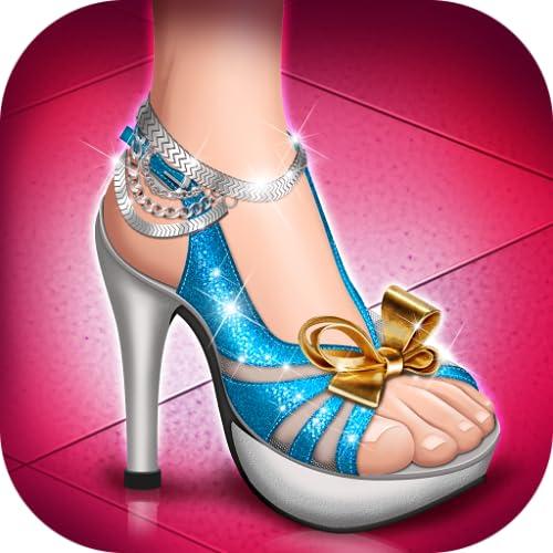 Salto alto sapatos da moda