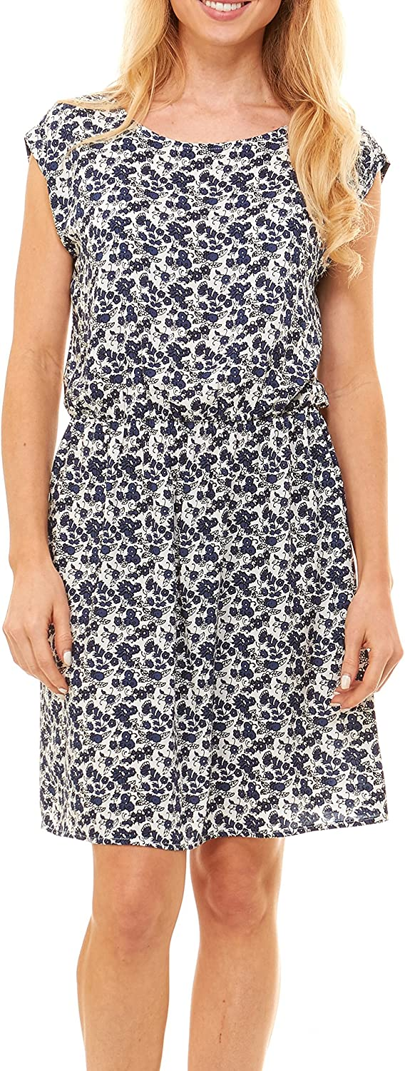 Womens Summer Dress - Floral Solid Casual Midi Dresses for Women with Pockets