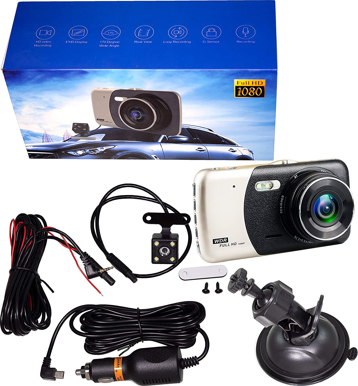 APDTY 141514 Universal 1080P Dual Rear Front And Dash or Backup 67% OFF of Animer and price revision fixed price
