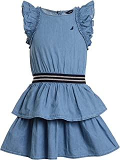 Nautica Girls' Denim Dress