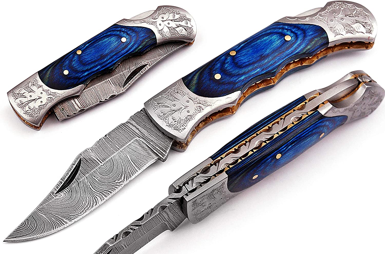 Hand New arrival made Damascus steel blade Hunting Ra knife Pocket Folding Lowest price challenge