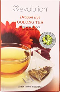 Revolution Tea - Dragon Eye Oolong Tea | Premium Full Leaf Infuser Teabags (6 Bags)