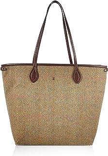 Joules Damen Adeline Shopper Stofftasche, Green Tweed, one