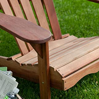 Belham Living Richmond Deluxe Wooden Adirondack Chair, Beautiful Wood Constructed, Perfect for Outdoor Use