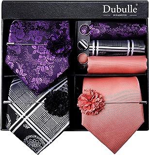 Lot 3 PCS Classic Men's Silk Tie Set Paisley Stripe Necktie for Men Pocket Square Gift Box Multiple Sets