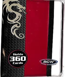 PRO-FOLIO LX Leatherette Gaming Trading Card Binder W/20 9 Side Loading