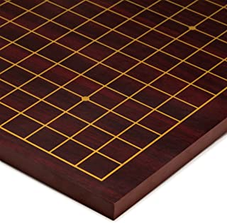 Yellow Mountain Imports Dark Cherry Pattern Wooden Go Table Board (Goban), 0.6 of an Inch Thick