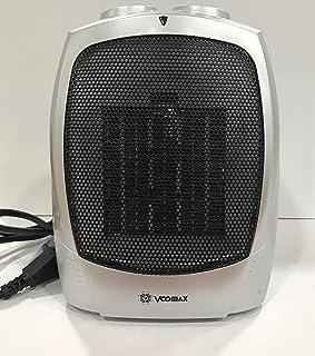 VOOMAX Mini Calefactor Eléctrico, Portatil Calefactor Ventilador ceramico, Calefactor Aire Frio y Caliente Oscilación Automática, Conveniente para el Dormitorio, la Sala de Estar (Gris Metalizado)