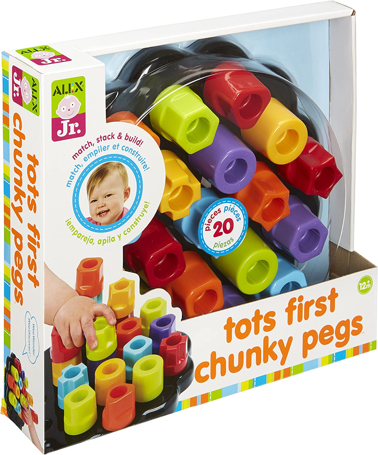 Alex Jr. Tots First Chunky Pegs Max 70% OFF Al sold out. Baby Toddler Activity Sorting