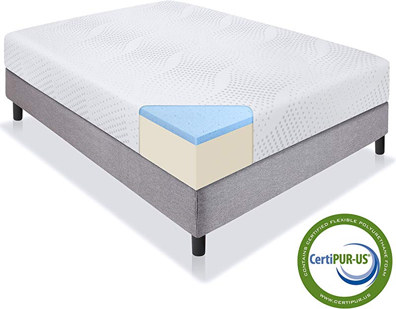 Best Choice Products 10in Queen Size Dual Layered Gel Memory Foam Mattress With CertiPUR US Certified Foam