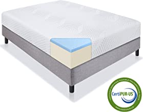 Best Choice Products 10in Full Size Dual Layered Gel Memory Foam Mattress with CertiPUR-US Certified Foam