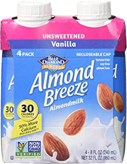 ALMBRZ Almond Breeze; Unsweetened Vanilla , Pack of 6