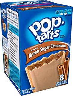 Pop-Tarts BreakfastToaster Pastries, Frosted Brown Sugar Cinnamon Flavored, Bulk Size, 96 Count (Pack of 12, 14 oz Boxes)
