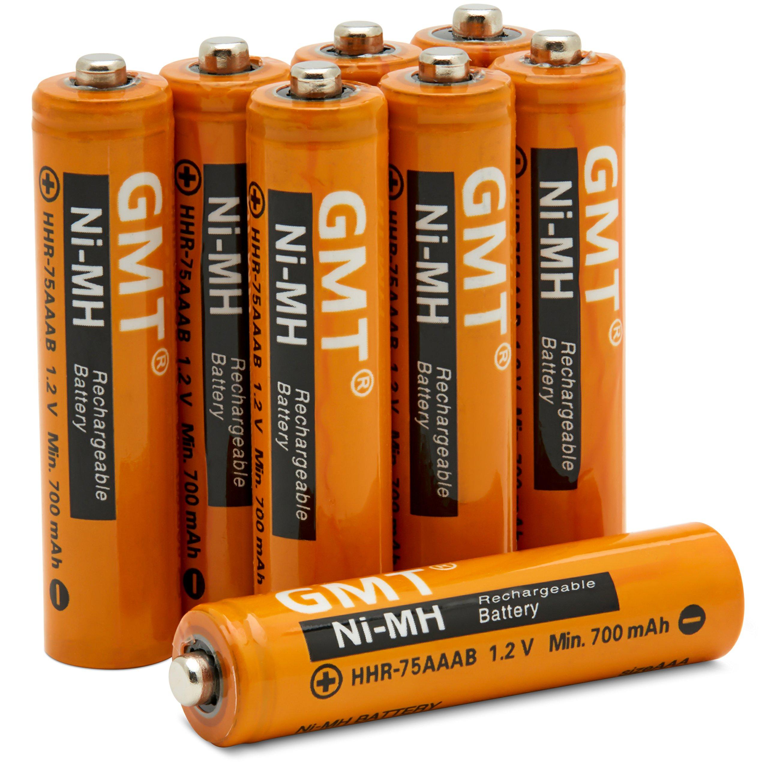 GMT - Pilas inalámbricas para teléfono Panasonic NI-MH recargables AAA de 750 mAh de potencia extra (