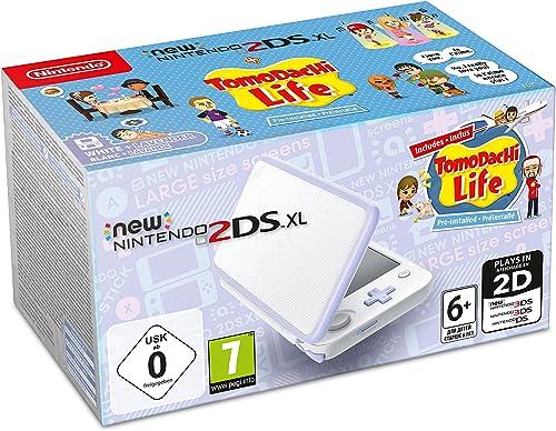 New Nintendo 2DS XL - blanc/Lavande & Tomodachi Life Préinstallé